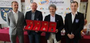 Prezes LOTTO Wojciech Szpil, Bartłomiej Pawełczak, Robert Sycz, Miłosz Bernatajtys